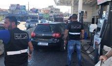 دوريات لأمن الدولة جالت على محطات الوقود في صور للتأكد من سير عملها وتنظيم عملية التعبئة