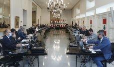 الجمهورية: جدول أعمال مجلس الوزراء يتضمن 11 بندا منها إحالة جريمة انفجار التليل إلى المجلس العدلي