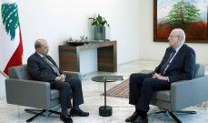 الرئيس عون استقبل ميقاتي في قصر بعبدا