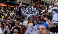 احتجاجات في ملبورن الأسترالية بعد إغلاق مواقع بناء للحد من كورونا