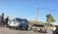 جريحان بحادث سير على طريق الضنية- طرابلس عند مفرق علما