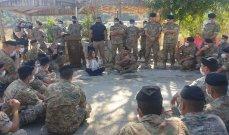 عكر تفقدت مراكز الجيش بقطاع الليطاني: العمل جار على معالجة مشكلات الطبابة والتعليم والتنقل