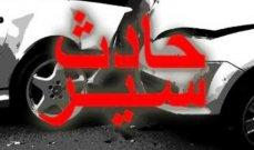 احصاءات التحكم المروري: قتيلان و10 جرحى في9 حوادث سير