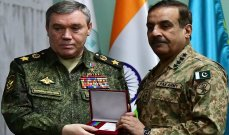 رئيس الأركان الروسي بحث التعاون العسكري مع نظيره الباكستاني