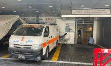الدفاع المدني: جريحان جراء حادث صدم على طريق جل البحر - صور