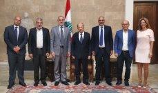 الرئيس عون عرض مع وفد من نقابة المعلمين في المدارس الخاصة أوضاع القطاع