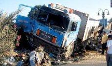 النشرة: إصابة 4 أشخاص بعد أن فقد سائق شاحنة السيطرة عليها واجتاح عددا من السيارات بصيدا