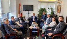 شرف الدين إستقبل رئيس وأعضاء الصندوق المركزي للمهجرين