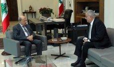 الرئيس عون اطلع من بو حبيب على نتائج قمة دول عدم الإنحياز في بلغراد والمواضيع المطروحة في قمة المناخ المقبلة