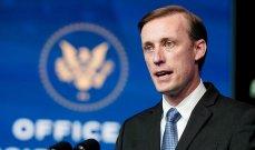 رويترز:مستشار الأمن القومي الأميركي جيك سوليفان يتوجه للسعودية اليوم