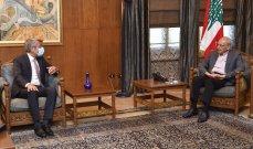 فياض بعد لقائه بري: الاتفاق على ضرورة العمل الدؤوب لتأمين زيادة التغذية لشبكة كهرباء لبنان
