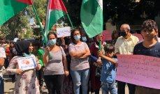 اعتصام امام الاونروا بعين الحلوة لتفعيل خطة طوارئ للاجئين