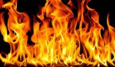 اصابة عنصر من الدفاع المدني جراء حريق في منطقة الفوار بصيدا