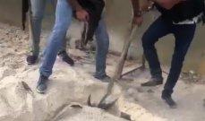 الأمن العام ضبط 28 ألف ليتر مازوت مخبأة تحت الأرض في منطقة المية ومية