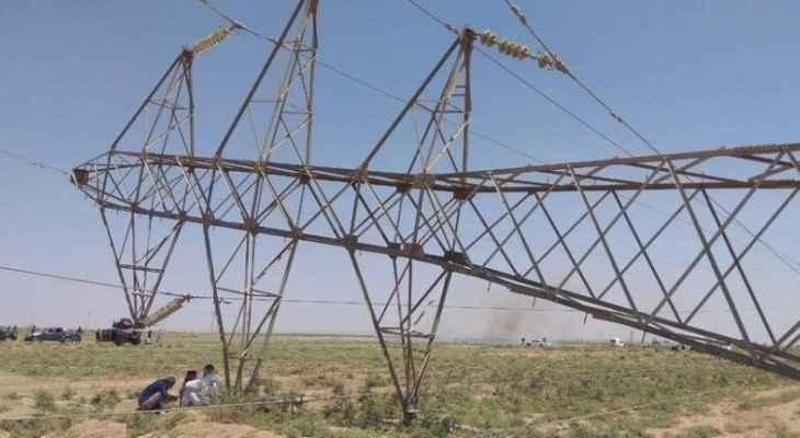 استهداف برجين لنقل الكهرباء من إيران إلى العراق في ديالى بعبوات ناسفة