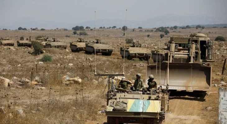 النشرة: الجيش الإسرائيلي ينفذ عملية تمشيط للطريق العسكري عند تخوم مزارع شبعا