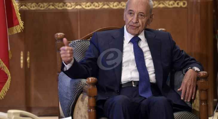 بري أبرق مهنئا نظيره الجزائري منهئاً بإنتخابه رئيساً للمجلس