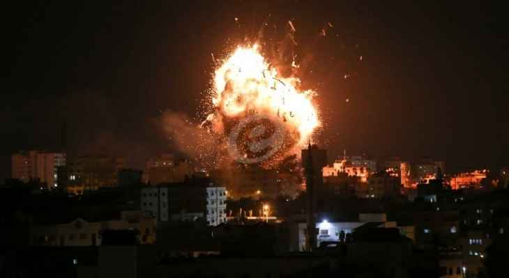 الطائرات الإسرائيلية شنت سلسلة غارات على جنوب قطاع غزة