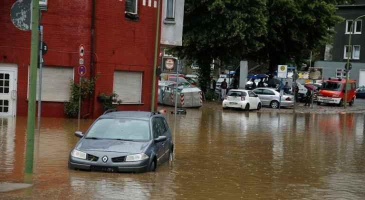 19 قتيلا على الأقل ونحو 50 مفقودا جراء الأمطار الغزيرة والفيضانات بألمانيا