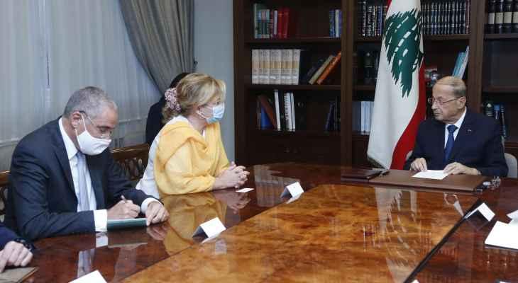 الرئيس عون عرض مع فالنسيانو دور الإتحاد الأوروبي في مراقبة الإنتخابات النيابية المقبلة