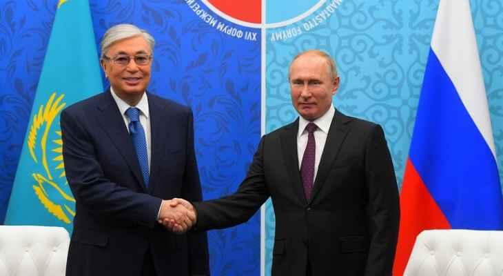 الكرملين: الرئيس الروسي بحث مع نظيره الكازاخي بالتعاون الثنائي وقضايا إقليمية