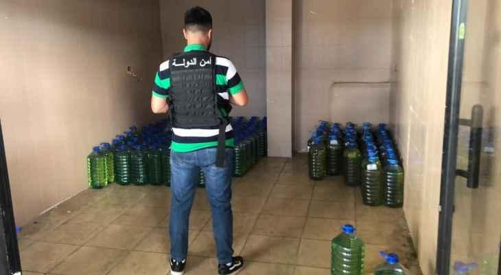 أمن الدولة: ضبط 145 غالون بنزين ببرج البراجنة وتسطير محاضر ضبط بحق محطة مخالفة بالكورة