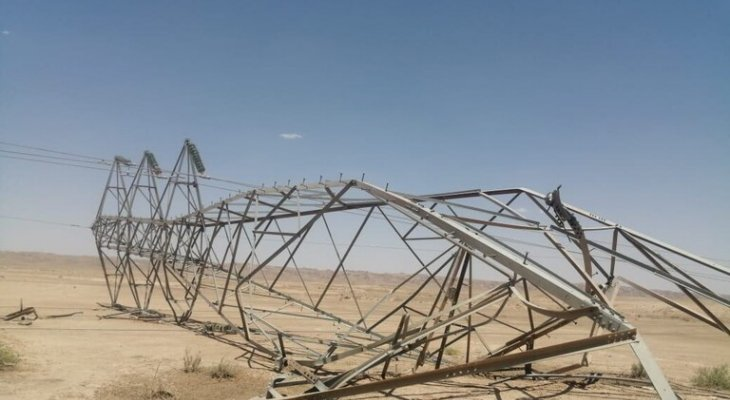 انهيار جزئي لأحد أبراج نقل الطاقة نتيجة عبوة ناسفة جنوب بغداد