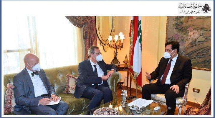 دياب يلتقي وزير الدولة الألماني ونائب وزير الخارجية