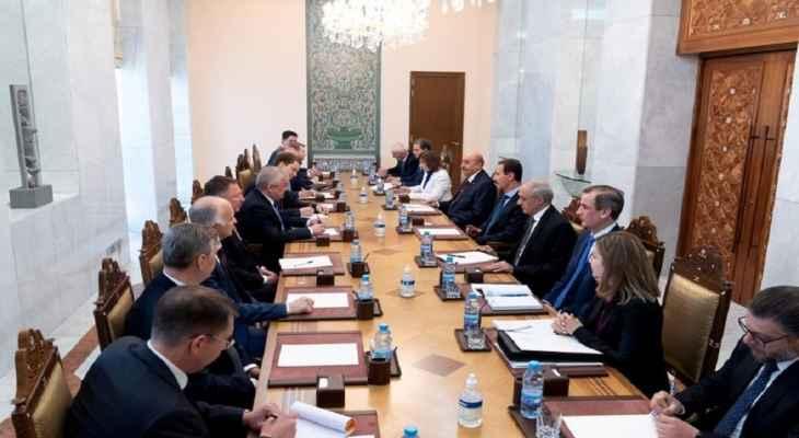 الأسدبحث مع المبعوث الخاص للرئيس الروسي العلاقات الاستراتيجية بين البلدين