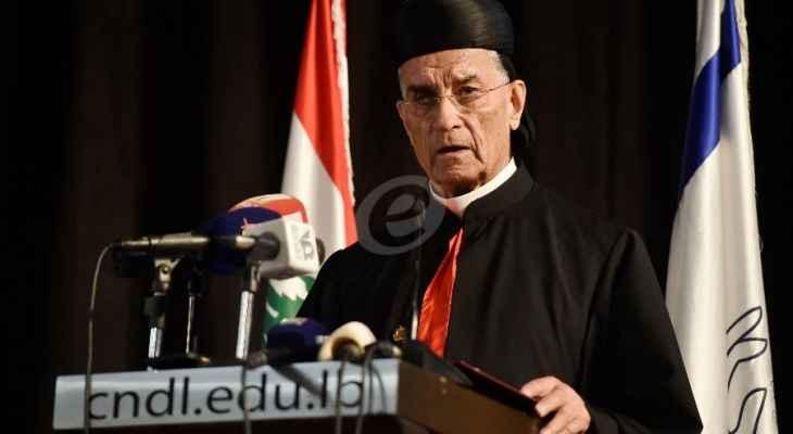 الراعي: المسؤولون السياسيون ابتعدوا عن الثوابت التي أرساها البطاركة ففقد اللبنانيون التوازن الوطني