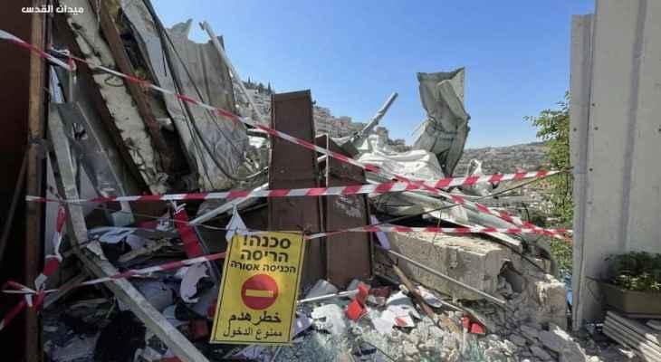 مسؤول فلسطيني: ليتدخل المجتمع الدولي فورا لوقف الهدم الإسرائيلي في سلوان
