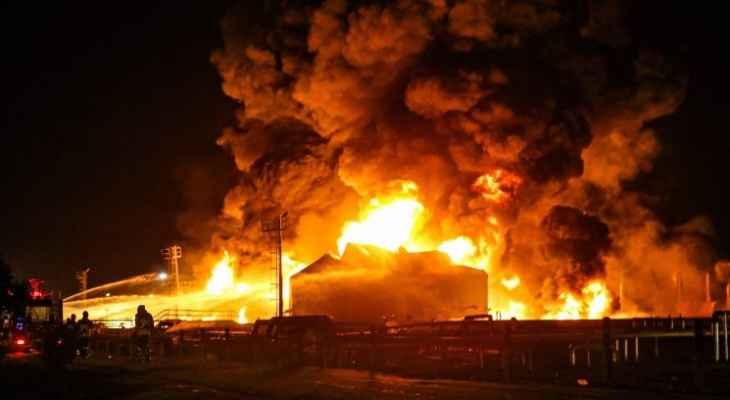 الإذاعة والتلفزيون: السيطرة على حريق في مصنع بتروكيماويات غربي إيران