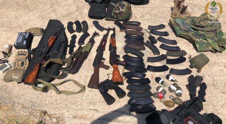 الجيش: توقيف شبان متوجهين للمشاركة بذكرى انفجار المرفأ وبحوزتهم كميات من الأسلحة والذخائر
