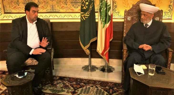 البعريني بعد لقائه دريان: لا مؤشرات إيجابية حتى الآن في ملف تشكيل الحكومة