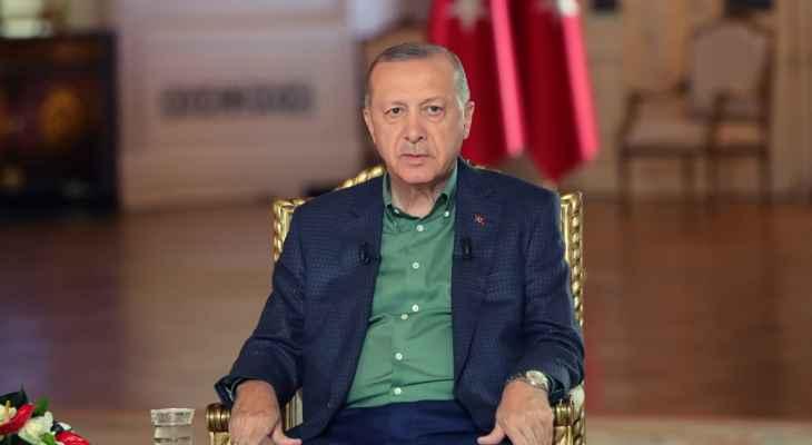 اردوغان: تركيا ستحقق نموا اقتصاديا يفوق 7 بالمئة في 2021