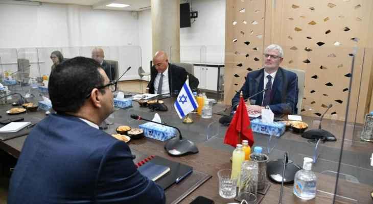 وزير الخارجية المغربي إلتقى مدير عام الخارجية الإسرائيلية في الرباط