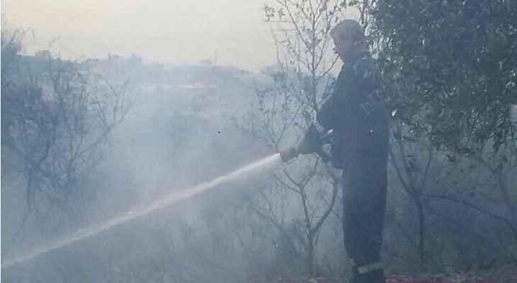 اندلاع حريق بين الهبارية وشبعا مع استمرار القصف الإسرائيلي