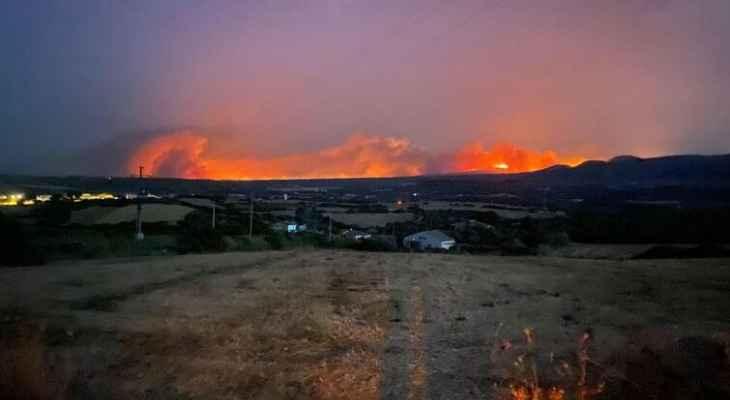 الاتحاد الأوروبي يرسل أربع طائرات لمكافحة الحرائق في جزيرة سردينيا الإيطالية