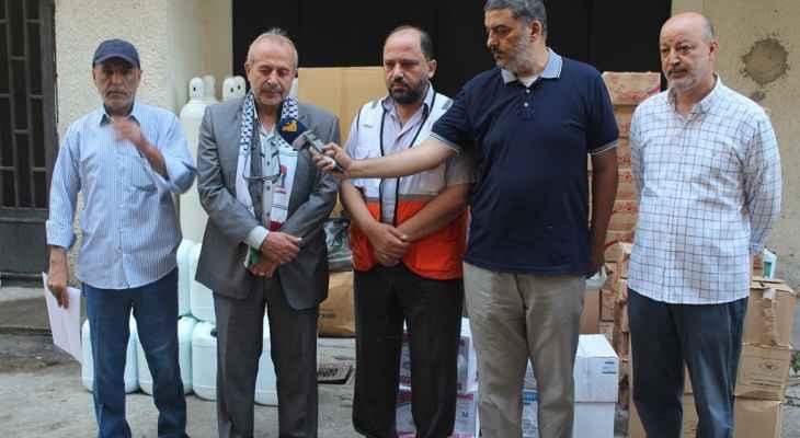 لجان العمل في المخيمات قدمت أدوية ومستلزمات طبيةلجمعية الهلال الاحمر الفلسطيني