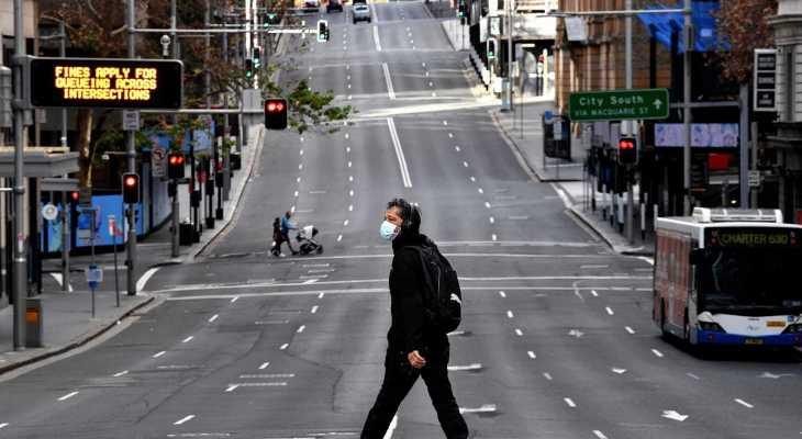 """تمديد العزل العام في سيدني الأسترالية شهراً مع تزايد إصابات """"كورونا"""""""