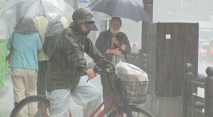 السلطات اليابانية تُجليأكثر من 120 ألفاً من مساكنهم بسبب هطول أمطار غزيرة