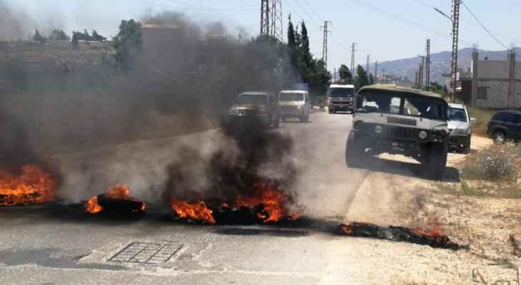 النشرة: قطع طريق عام مرجعيون- بنت جبيل احتجاجاً على تردي الأوضاع المعيشية