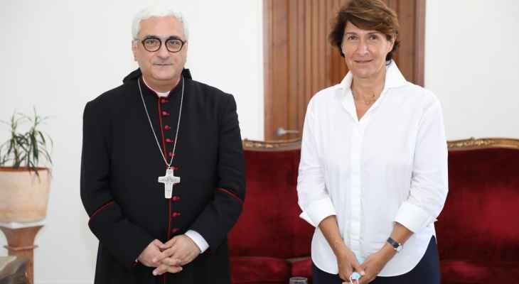 عبد الساتر عرض مع غريو للوضع في لبنان ودور فرنسا بمساعدة المؤسسات التربوية