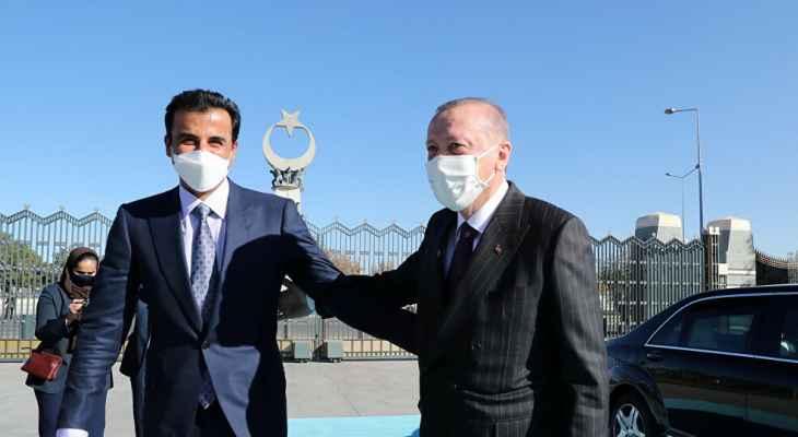 رئيس تركيا وأمير قطر استعرضا أوجه تعزيز علاقات التعاون الاستراتيجية