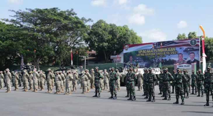 آلاف الجنود من إندونيسيا وأميركا يشاركون بمناورات عسكرية مشتركة ضخمة
