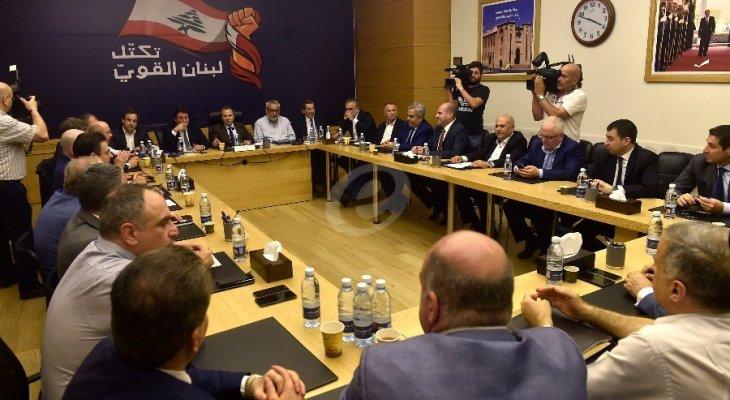 تكتل لبنان القوي: منح الثقة للحكومة مرتبط بما سيتضمّنه بيانها الوزاري