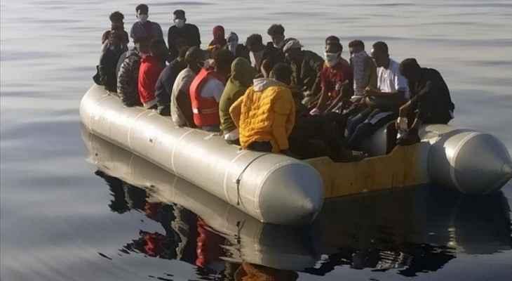 الاناضول: خفر السواحل التركية أنقذت 61 طالب لجوء قبالة سواحل إزمير