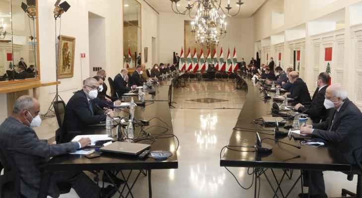 انتهاء إجتماع المجلس الأعلى للدفاع في قصر بعبدا