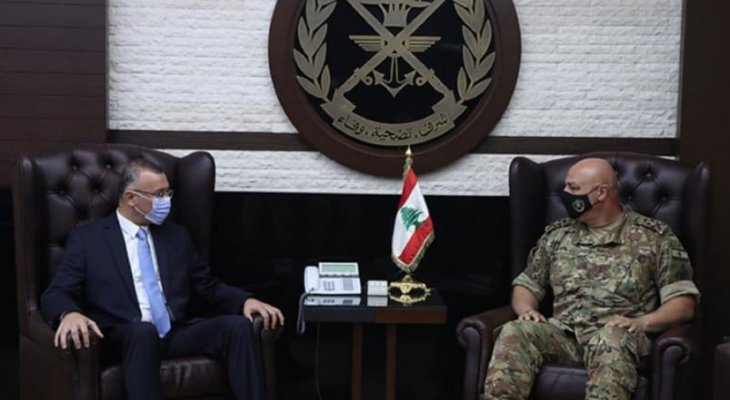 قائد الجيش بحث مع درويش الوضع الأمني في طرابلس عامّة ومنطقة جبل محسن خاصّة