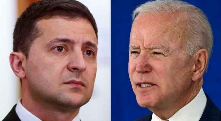 البيت الأبيض: بايدن سيلتقي زيلينسكي في 30 آب لبحث ملفات السيادة الأوكرانية والطاقة